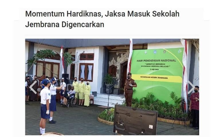 Momentum Hardiknas, Jaksa Masuk Sekolah Digencarkan!
