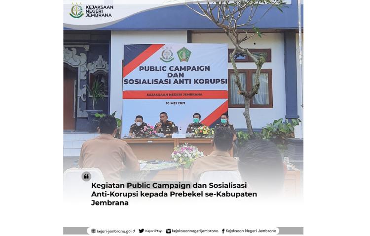 Public Campaign Dan Sosialisasi Anti Korupsi