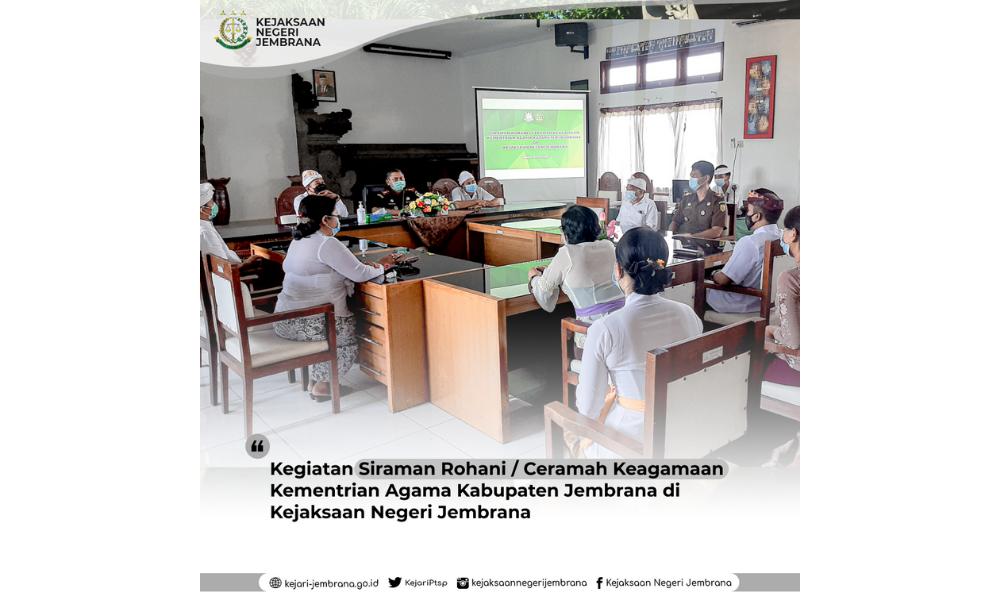 Siraman Rohani / Ceramah Keagamaan Kementrian Agama Kabupaten Jembrana